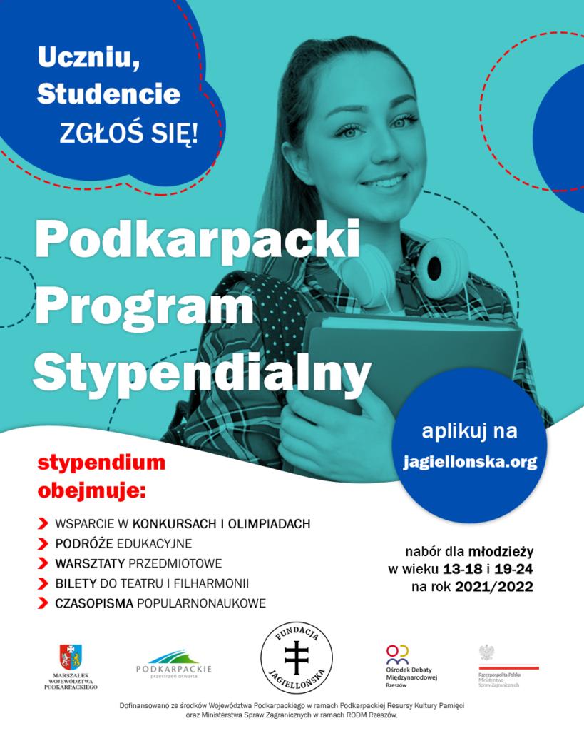Podkarpacki Program Stypendialny plakat