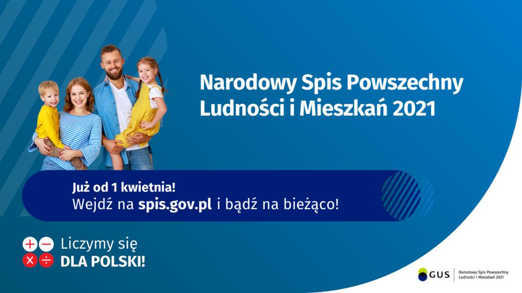 Plakat Narodowego Spisu Powszechnego Ludności i Mieszkań
