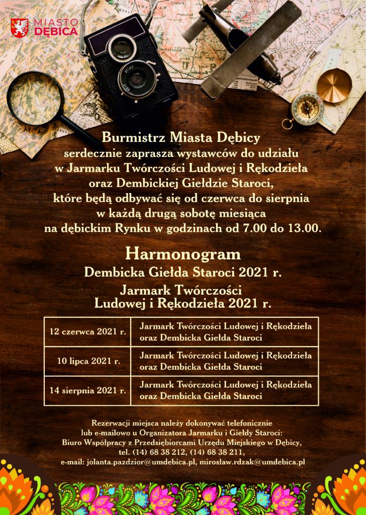 Harmonogram Jarmarku i Giełdy Staroci
